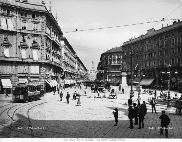 View of Via Dante (Dante Street) in Milan