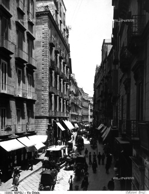 View of the Via Chiaia (Chiaia Street) in Naples