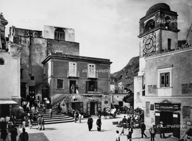 Main square of Capri.