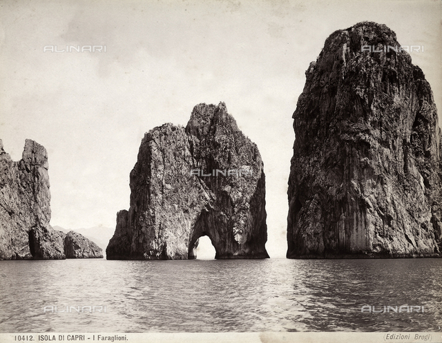 View of Capri's faraglioni (giant rocks)