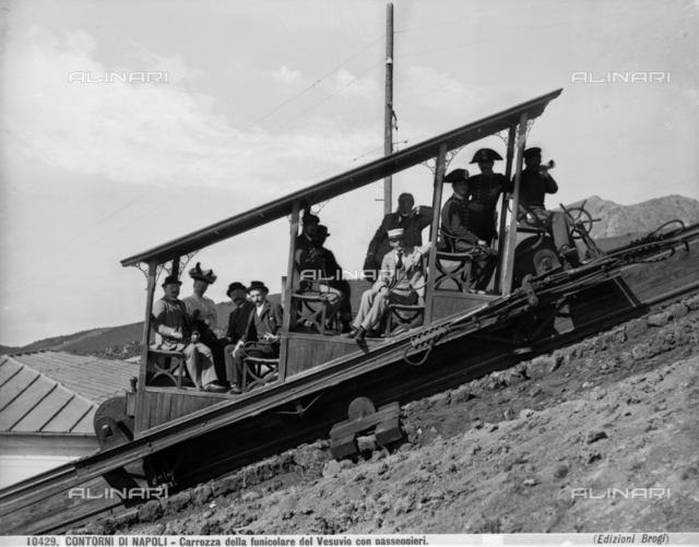 Carriage on the Vesuvius funicular railway