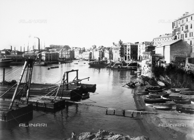 View of the port of Savona