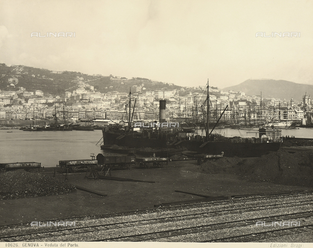 View of Genoa's port.
