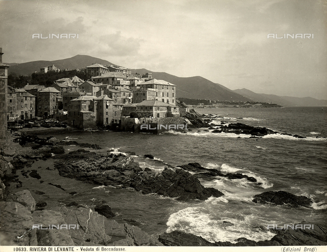 Panoramic view of the village of Boccadasse, Genoa.