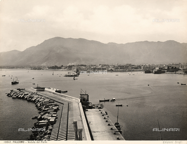 The port and city of Palermo