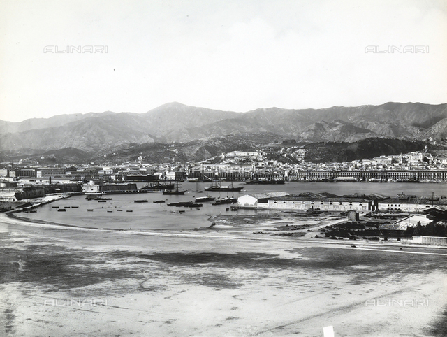 View of the town of Messina from the wharf.