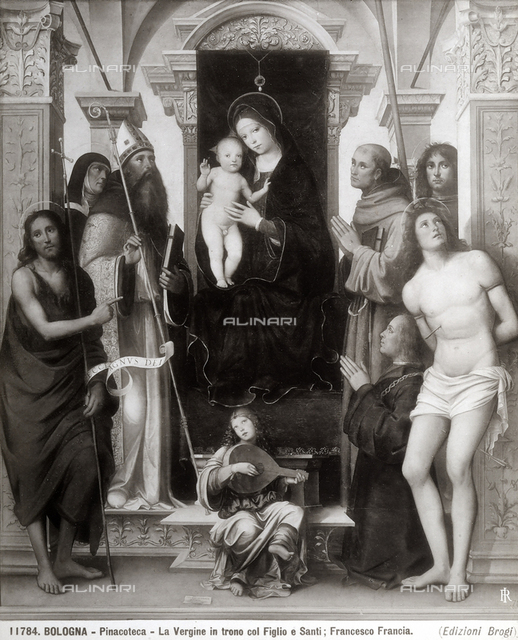 Enthroned Madonna with Child and Saints known as Pala Felicini, the National Picture Gallery, Bologna