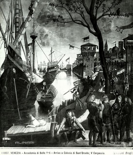 The Arrival of the Pilgrims in Cologne, detail of the cycle of Stories from the life of St. Ursula, Accademia Galleries, Venice