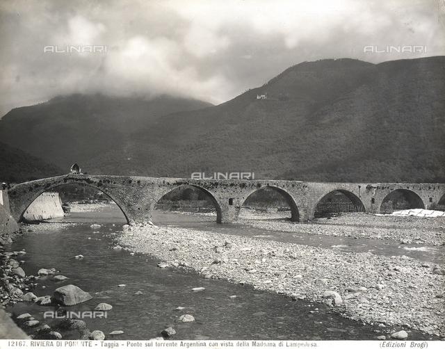 The bridge on the river Argentina in Taggia