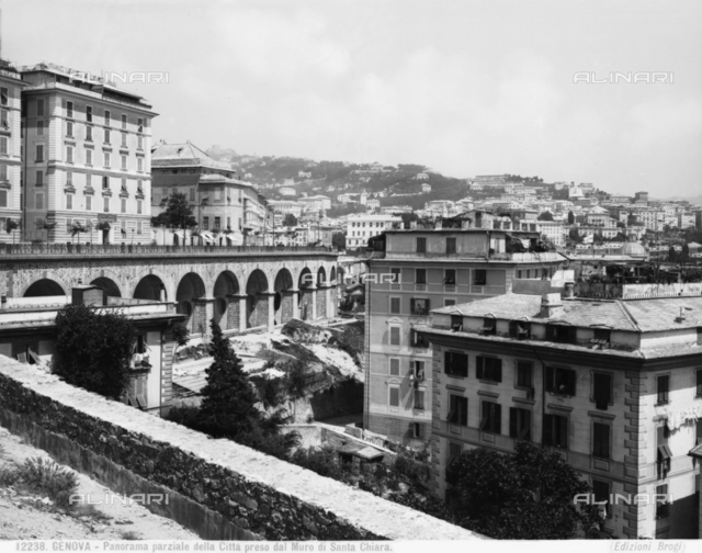 View of Genoa from the Santa Chiara walls.