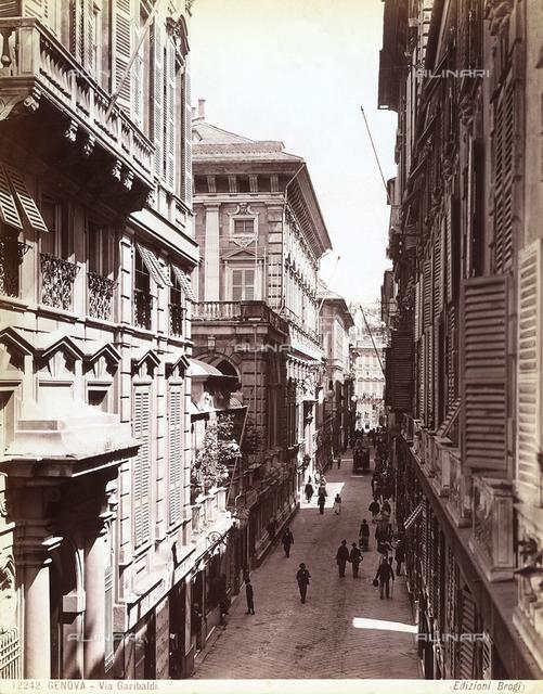 Garibaldi Street in Genoa.