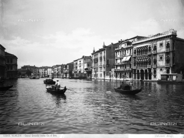 View of the Grand Canal and the Cà d'Oro, in Venice.