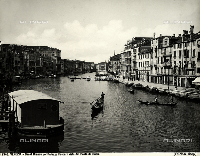 The Grand Canal with Palazzo Foscari seen from the Rialto Bridge