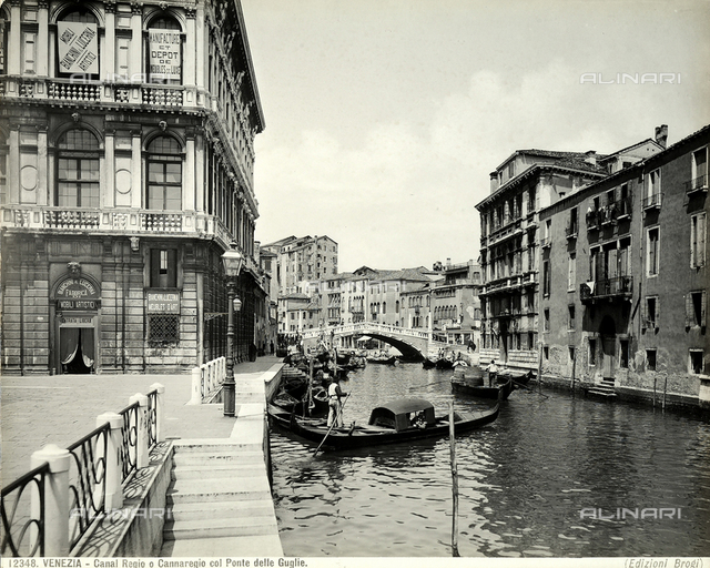 Canal regio or Cannaregio with the Ponte delle Guglie