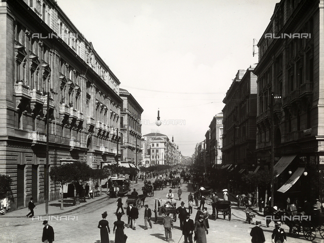 View of Corso Umberto I in Naples