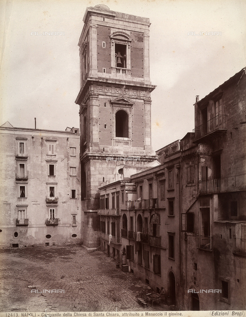 Bell tower of the church of Santa Chiara, Naples