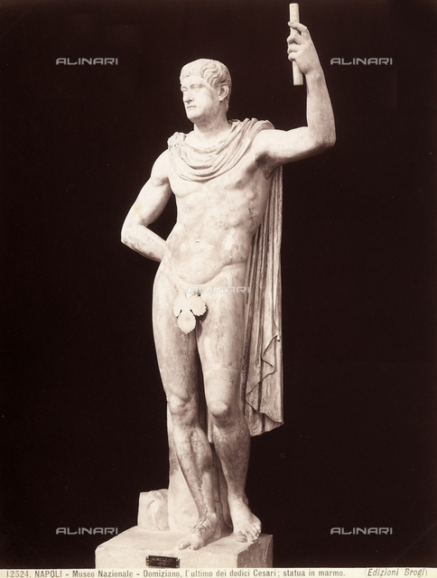 The emperor Titus Flavius Domitian. Marble statue, National Archaeological Museum of Naples.
