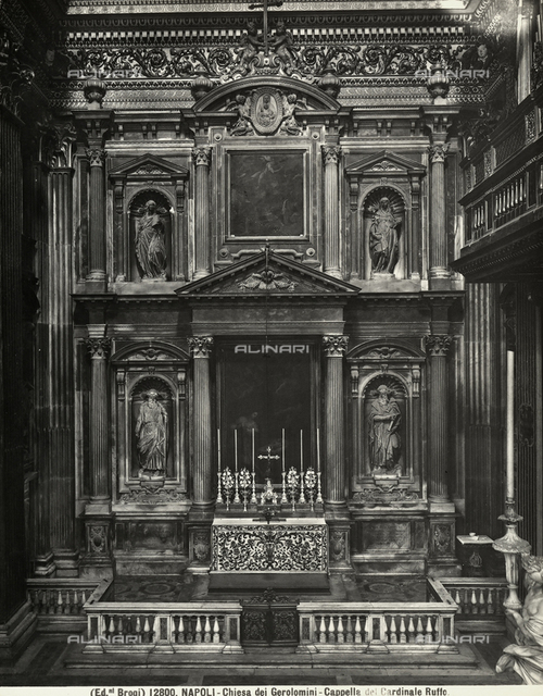 The Ruffo chapel in the Church of the Girolamini in Naples
