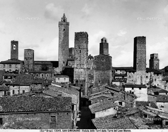 View of the Towers shot from the Fortress in San Gimignano