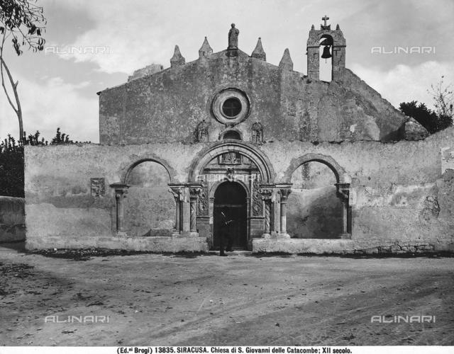 San Giovanni Evangelista (church of the Catacombs), faà§ade, Syracuse