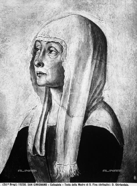 Saint Gregory telling Saint Fina of her upcoming death, Collegiate Church, San Gimignano