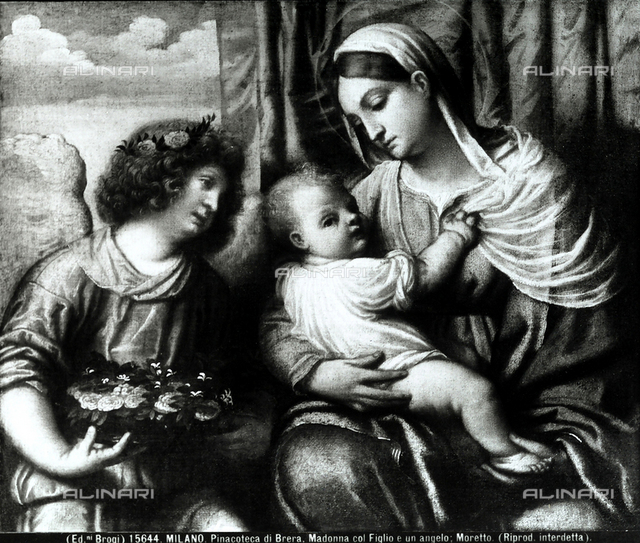 Madonna with the Child, Brera Picture Gallery, Milan.