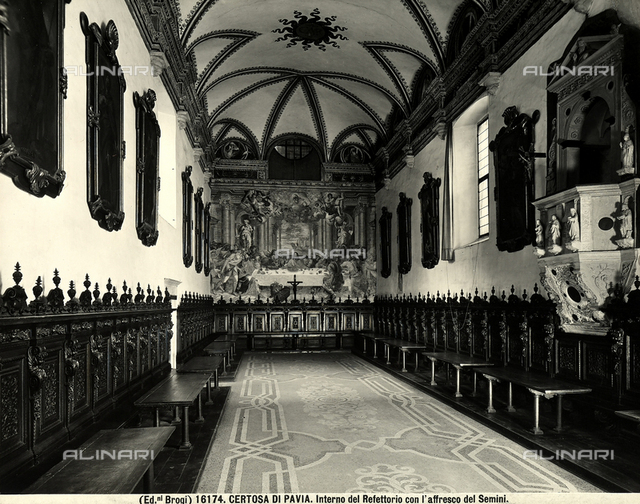 The Great Refectory of the Carthusian Monastery of Pavia