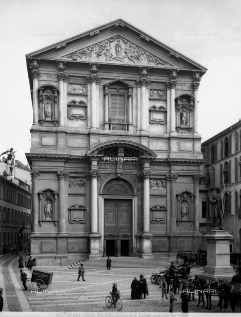 Facade of the Church of Saint Fidelis, Milan.