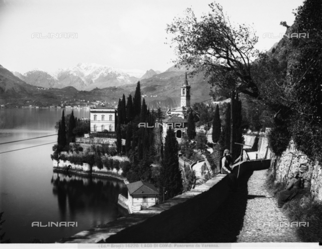 Lake Como, view of the town of Varenna