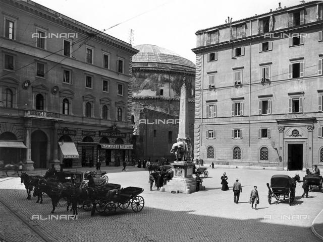 Elephant supporting the obelisk (Pulcin della Minerva), Gian Lorenzo Bernini and Ercole Ferrata, Piazza della Minerva, Rome