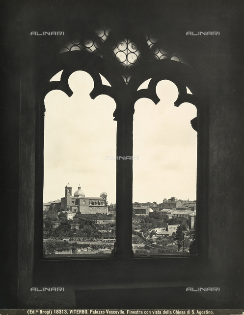 View of the Church of Saint Augustine from a window of Viterbo's Papal Palace.