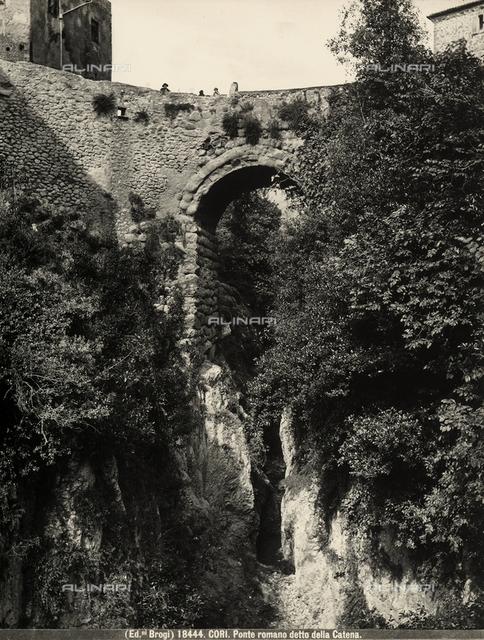 Roman bridge called the Chain Bridge, in Cori.