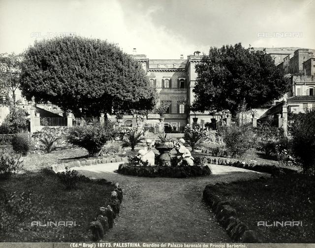 View of the internal garden of Palazzo Barberini in Palestrina