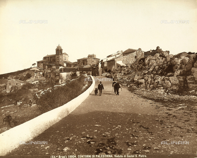 View of the street that leads to the locality of Castel San Pietro