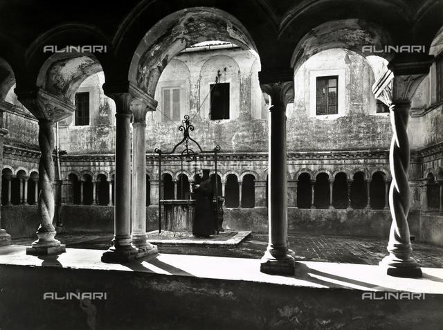 Third cloister, known as the cosmatesque cloister, monastery of Santa Scolastica, Subiaco