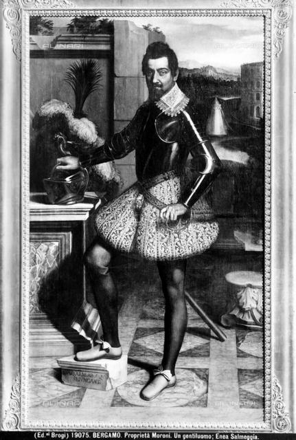 Portrait of a gentleman, Enea Salmeggia called Talpino, Moroni Collection, Bergamo.