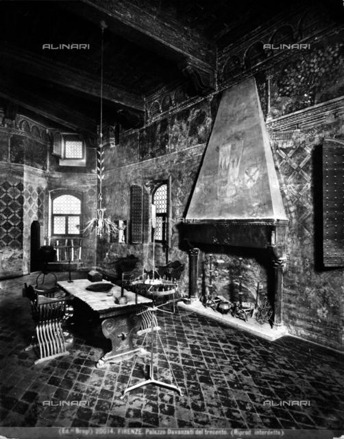 The room of windows, Davanzati Palace, Display by Elia Volpi, Florence.