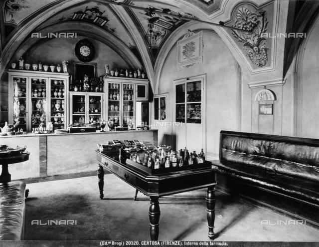 Pharmacy, interior; Galluzzo's Certosa (Carthusian monastery), Florence.