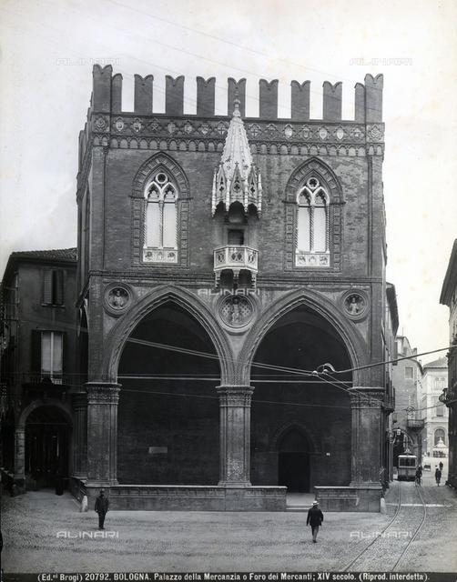 Faà§ade of the Palazzo della Mercanzia (detail), Bologna.