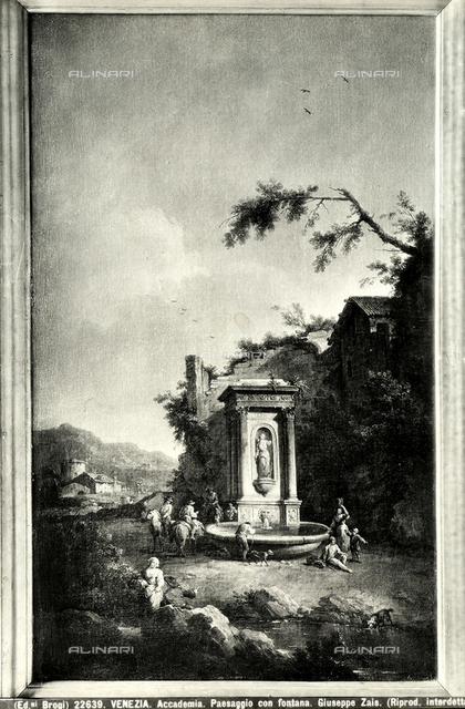 Landscape with fountain, Accademia Galleries, Venice