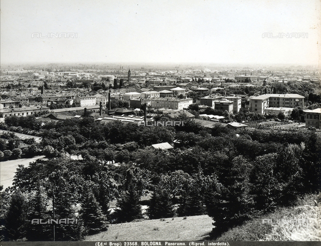 Panoramic view of Bologna.