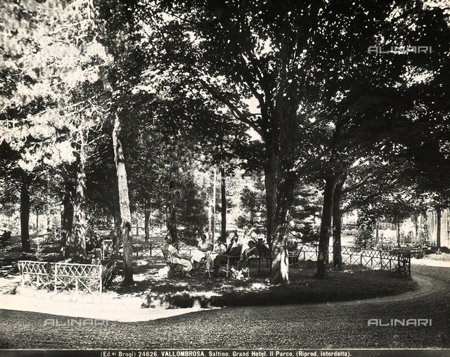 Park of the Grand Hotel of Saltino, small town near Vallombrosa.