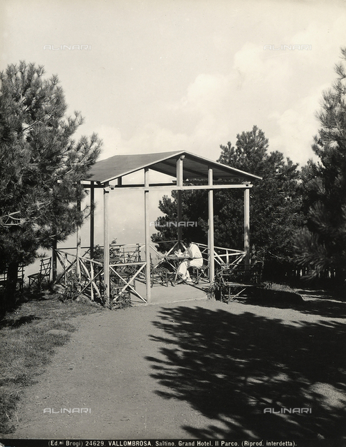 A sort of gazebo in the park of the Grand Hotel of Saltino, small town near Vallombrosa.
