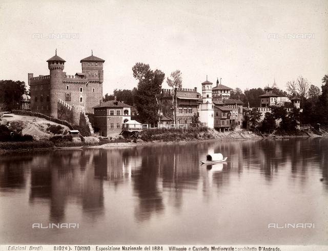 Medieval castle, medieval village, Turin