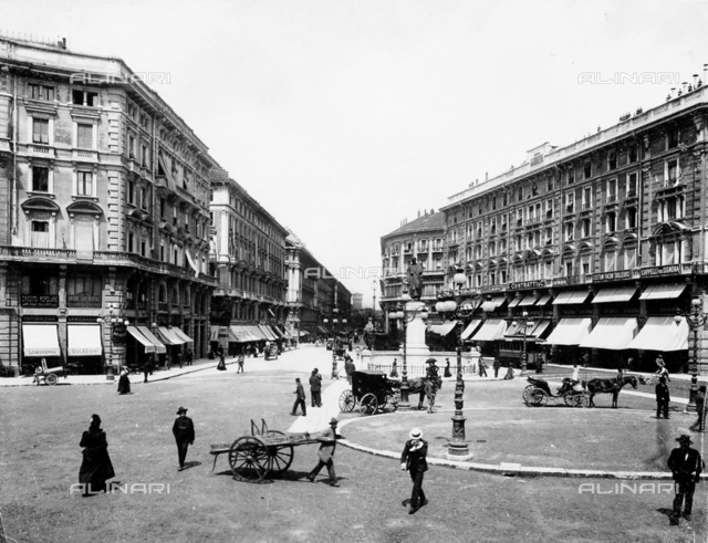 View of the Via Dante (Dante Street) in Milan