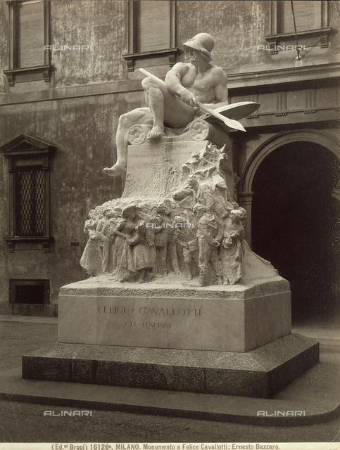 "Monument to Felice Cavallotti, Public Gardens ""i Boschetti"" (Little Woods), Milan."