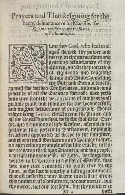 Prayers and thanksgiving, from 'Prayers and Thankesgiuing...' (Robert Barker: London, [1606?]), 695.e.2, sig D2, British Library, London