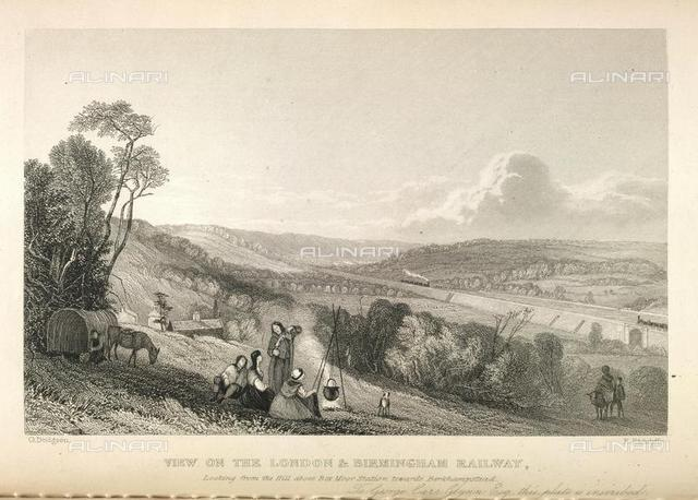 Viaduct over the River Colne, near Watford, from 'The London and Birmingham Railway ..' of Thoams Roscoe, G. Dodgson W. Radclyffe, (London, 1839?), 796.f.2, opposite 52, British Library, London
