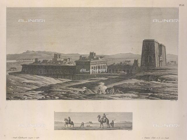 A temple., from 'Voyage dans la Basse et la Haute égypte pendant le' (Paris, 1802), 458.h.11-12, plate 58, British Library, London