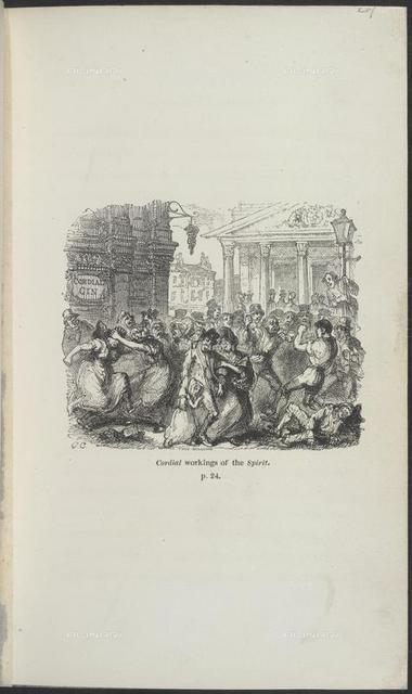 Cordial workings of the spirit, from 'Sunday in London' (Effingham Wilson: London, 1833), 838.f.18, opposite 24, British Library, London